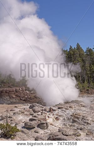 Steam From A Thermal Pool