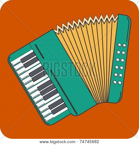 Vector Flat Icon of Accordion