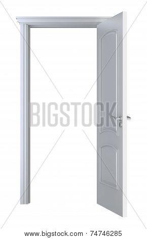White Wood Doorframe