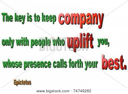 Keeping Company Quote - Epictetus