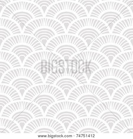 White vintage hand drawn art deco pattern