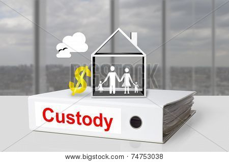 Office Binder Custody Family House Symbol