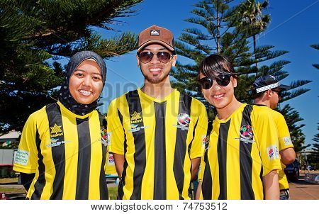 Malaysian student soccer team