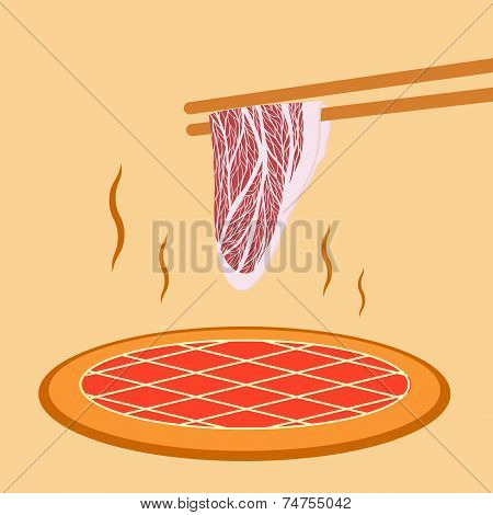 Meat Slide Grill