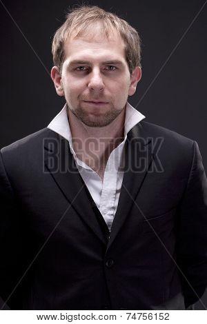 Portrait of a man with suit