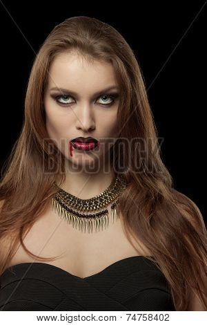 Portrait of a  gothic vampire woman
