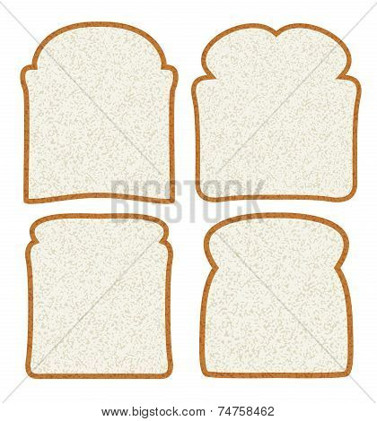Vector Collection Of White Bread Slices