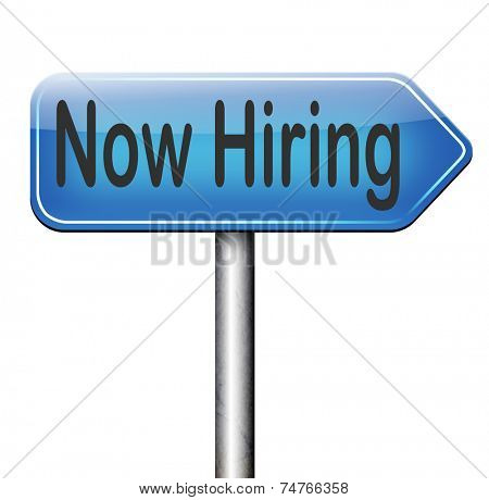hiring now road sign job opening or offer search for jobs vacancy help wanted