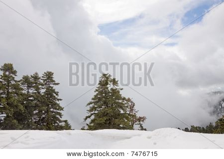 Winter Mountain Cloudscape