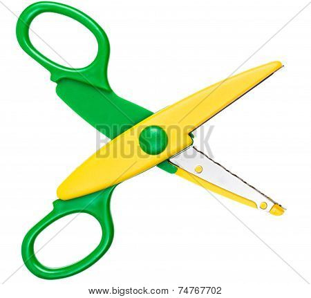 Children's Scissors Isolated On White