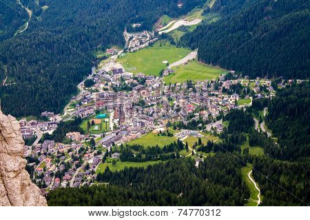 View Of San Martino Di Castrozza In Italy