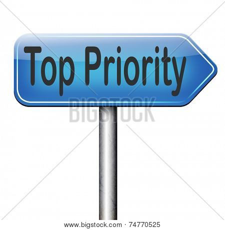 top priority important very high urgency info lost importance crucial information road sign arrow