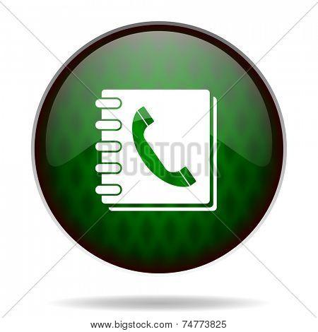 phonebook green internet icon