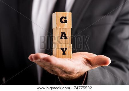 Businessman Coming Out Of The Closet