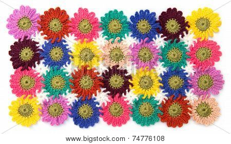 Crochet Fabric Flowers
