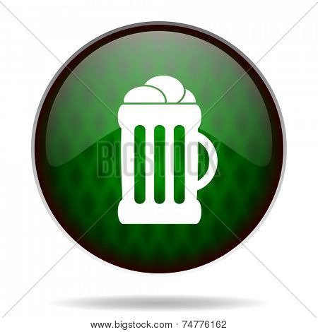 beer green internet icon