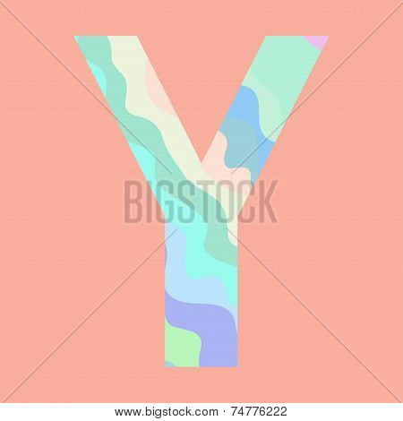 The letter Y. Element of alphabet