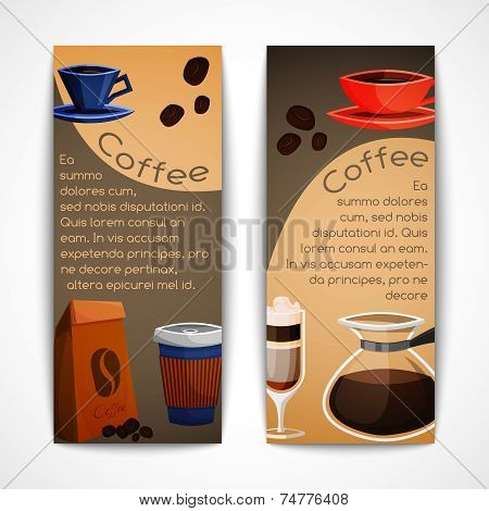 Coffee banners set