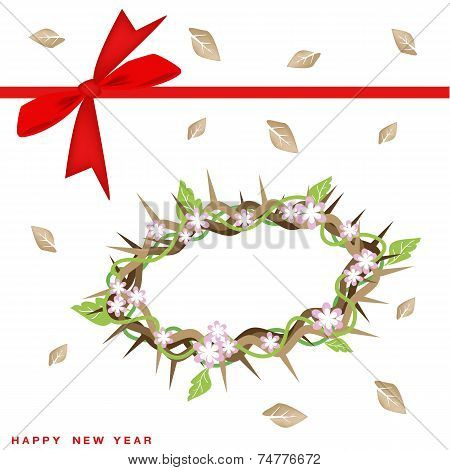New Year Gift Card with Crown of Thorns