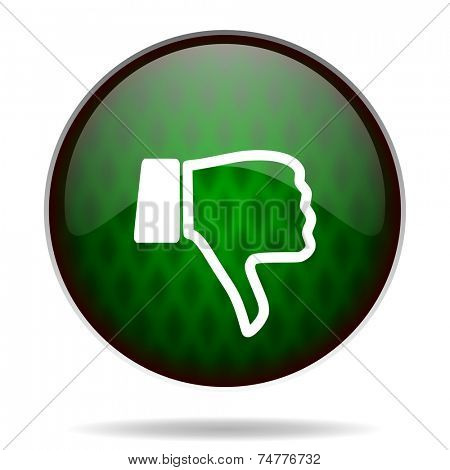 dislike green internet icon