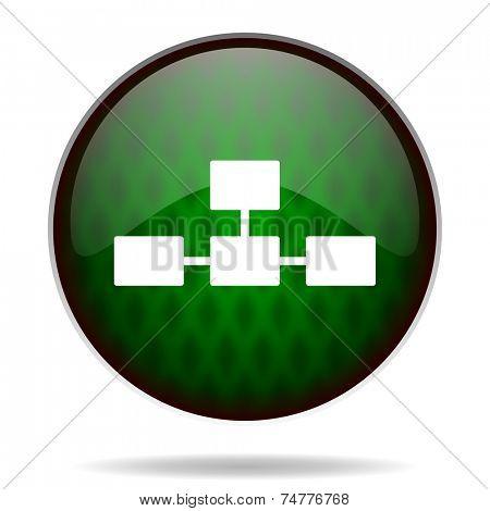 database green internet icon