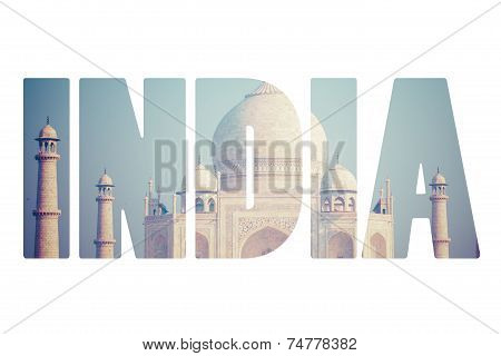 Taj Mahal , A Famous Historical Monument, A Monument Of Love, The Greatest White Marble Tomb In Indi