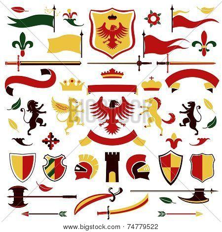 Heraldic set colored
