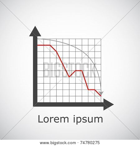 Drop Chart On Grid And Gradient Background
