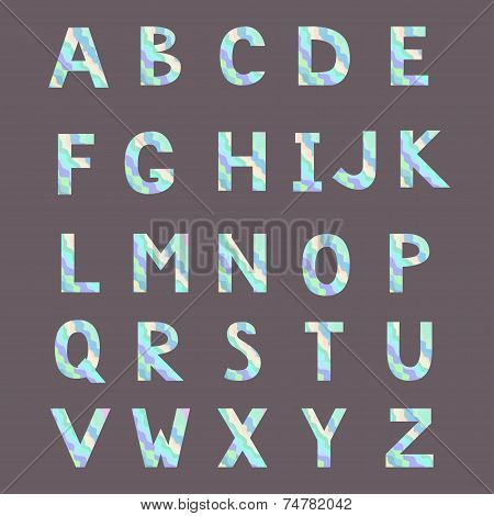 Alphabet made from abstract wave