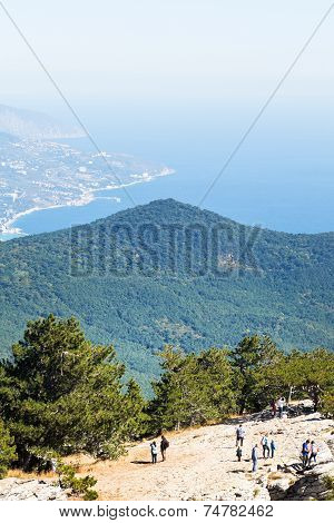 View Of Southern Coast Of Crimea From Ai-petri