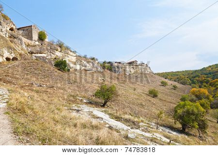 Walls Of Ancient Town Chufut-kale, Crimea