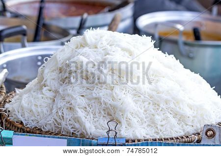 Thai Rice Vermicelli, Usually Eaten With Curries