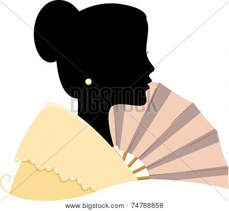 Illustration Featuring the Silhouette of a Filipino Woman