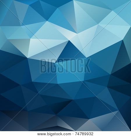 Blue Night Sky Triangular Background