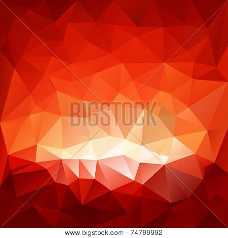 Red Hell Triangular Background