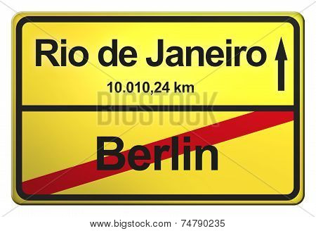 German yellow city limit