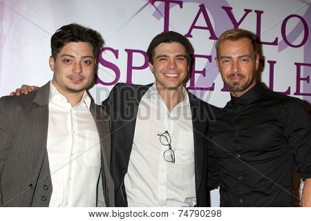 LOS ANGELES - OCT 25:  Andrew Larwrence, Joey Lawrence, Matthew Lawrence at the Taylor Spreitler's 21st Birthday Party at the CBS Radford Studios on October 25, 2014 in Studio City, CA