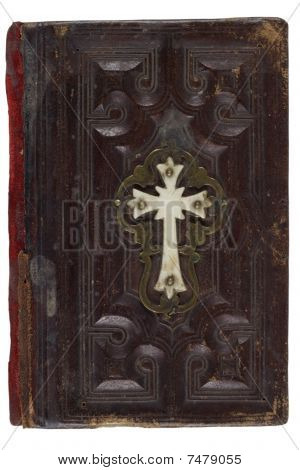 Antique Bible, Isolated On White