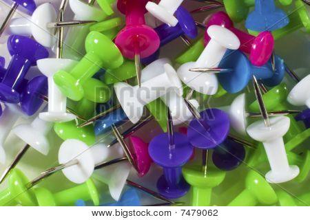 Multicolored Thumb Tacks