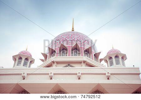 Putra Mosque Located In Putrajaya City, Malaysia