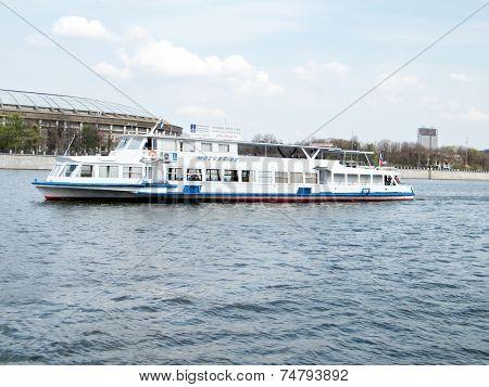 Moscow Water-bus Near Luzhniki Stadium 2011