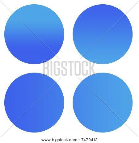 Blank Blue Sticker Buttons