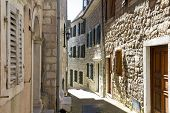 picture of pavestone  - Narrow street of the old town in Herceg Novi Montenegro - JPG