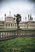 Brighton Palace Pavilion , a British Royal pleasure palace built in Indo-Saracenic style with ornate onion domes, columns and arches, a popular tourist destination poster