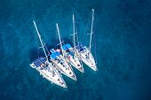 pic of caribbean  - amazing view to yacht group and clear water  - JPG