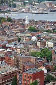 pic of paul revere  - Aerial view of Boston North End - JPG