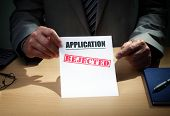 image of reject  - Application has been rejected concept for loan - JPG