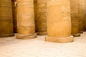 foto of hieroglyphic  - columns covered in hieroglyphics - JPG