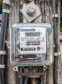 pic of electricity meter  - Watt hour Electric meter measurement tool home use front view  - JPG