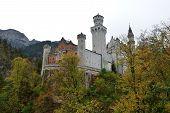picture of bavaria  - Neuschwanstein Castle in the autumn - JPG